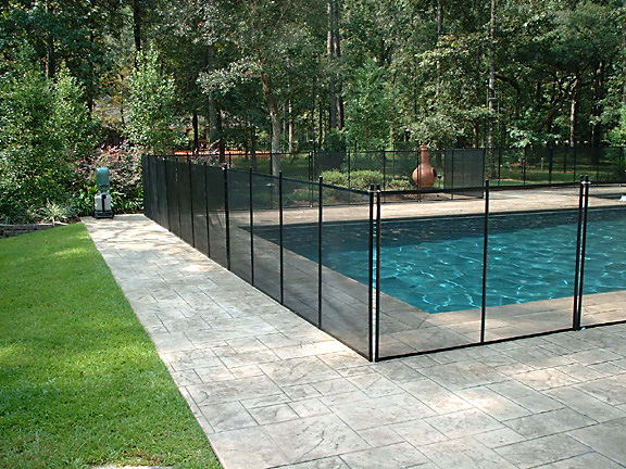 Removable Pool Fence With Lock In Deck Posts Protect A Child