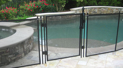 Self-Closing Pool Fence Gate - 1990