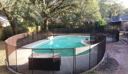 Black 4ft Mesh Pool Fence