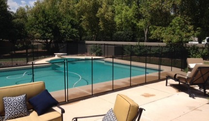 Beautiful Backyard Pool Fence
