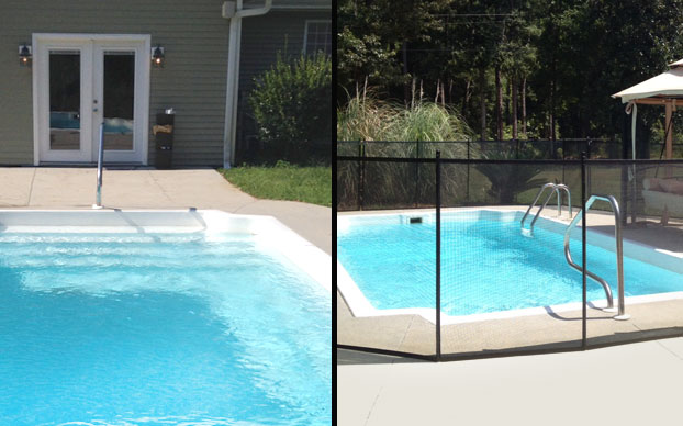 Pool Fence Before/After