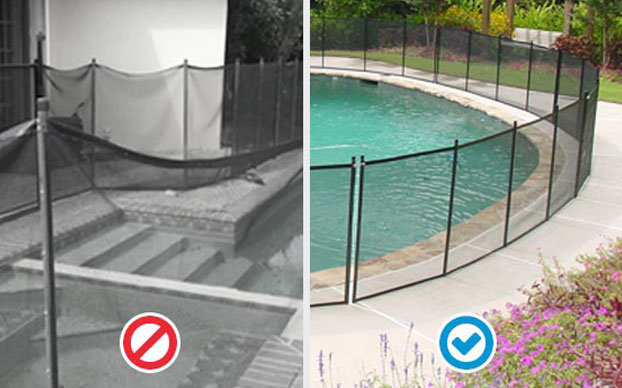 Pool Fence Mesh Sagging
