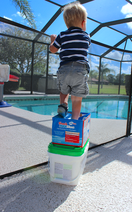 Lock away stackable items for proper pool safeguards.