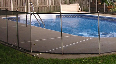 Black Mesh Pool Fence - 1989