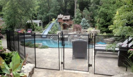 4ft Black Pool Fence Gate