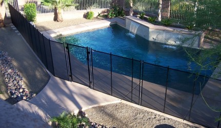 Swimming Pool and Pool Fence
