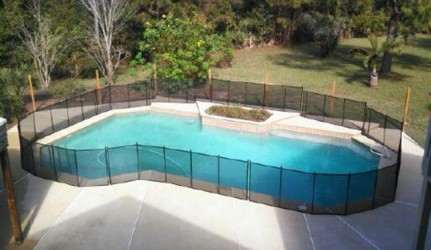 Aerial View of Pool Fence