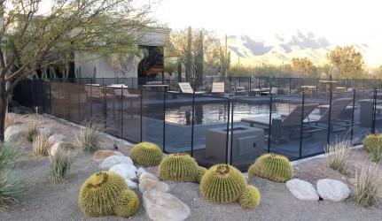 Arizona Backyard Swimming Pool and Safety Fence