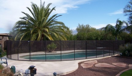 Transparent Removable Mesh Fence