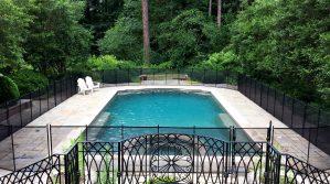 Black Rectangular Pool Fence