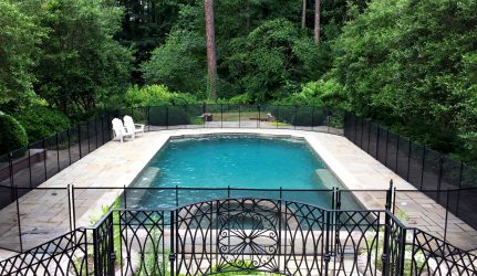 Black Rectangular Pool Fence