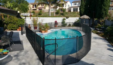 Black Mesh Safety Pool Fence