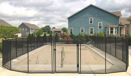 Mesh Black Pool Fence Indianpolis