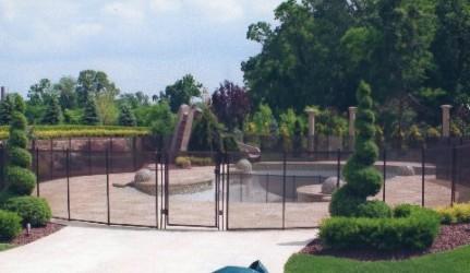 Brown Pool Fence