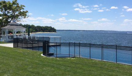 Pool Fence Long Island Sound