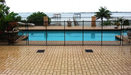 Black Mesh Safety Pool Fence