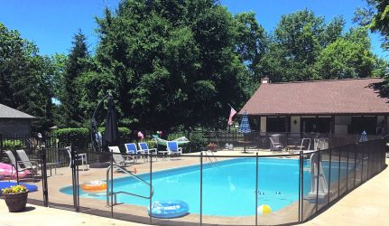 Black Safety Pool Fence