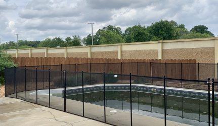 pool fence black mesh