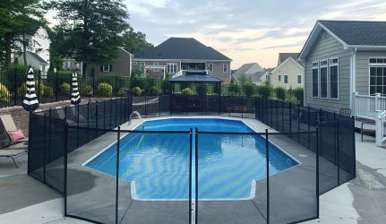 pool fence manual opening