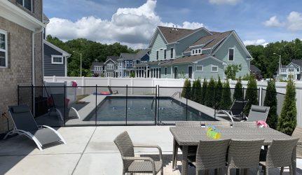transparent pool fence