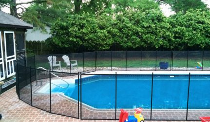 Pool Fence in Brick Patio